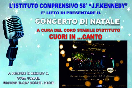 Concerto di Natale, Esordio del Coro d'Istituto