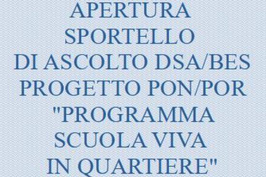 AVVISO N. 363  APERTURA SPORTELLO DI ASCOLTO DSA/BES